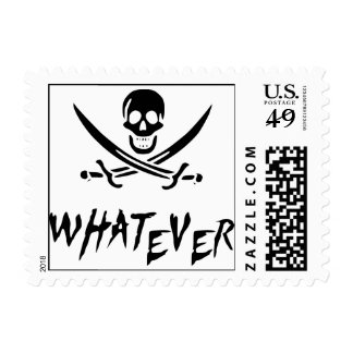 """""""Apathetic Roger"""" Pirate {Blackbeard} Postage Stamps"""