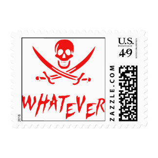 """""""Apathetic Roger"""" Pirate {Redbeard} Postage Stamps"""