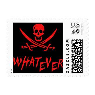 """Apathetic Roger"" Pirate {Redbeard} Postage"