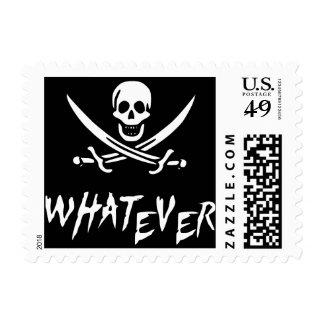"""Apathetic Roger"" Pirate {Whitebeard} Postage Stamp"