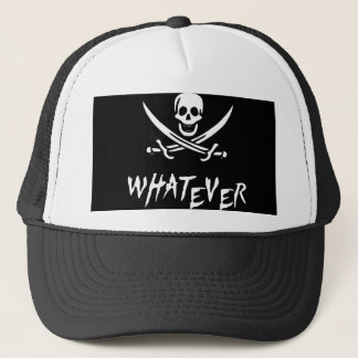 """Apathetic Roger"" Pirate {Whitebeard} Trucker Hat"