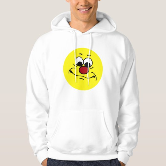 Apathetic Smiley Face Grumpey Hoodie