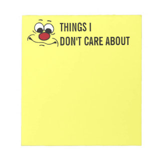 Apathetic Smiley Face Grumpey Notepad