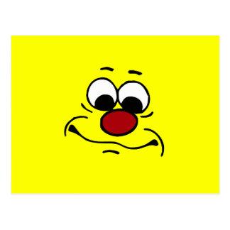 Apathetic Smiley Face Grumpey Postcard