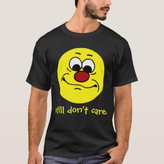 Apathetic Smiley Face Grumpey T-Shirt