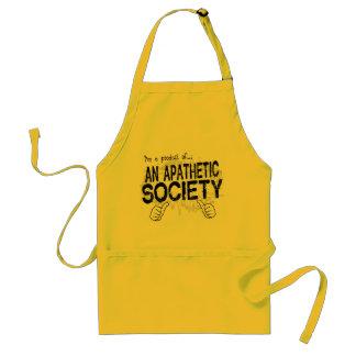 apathetic society adult apron