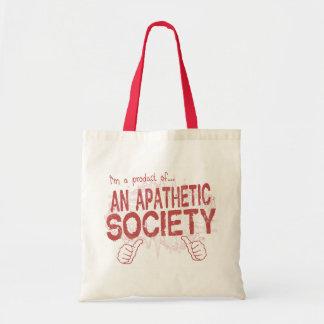 apathetic society tote bags
