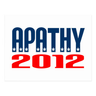 Apathy 2012 postcard