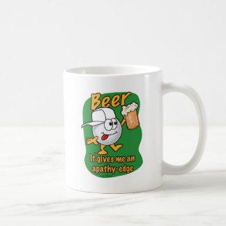 Apathy edge beer drinking golf ball coffee mug