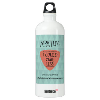 Apathy: I Could Care Less Aluminum Water Bottle