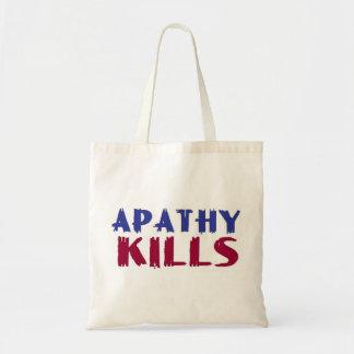 apathy kills tote bag