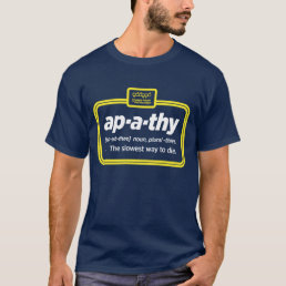 Apathy - Men's short sleeve navy T-Shirt