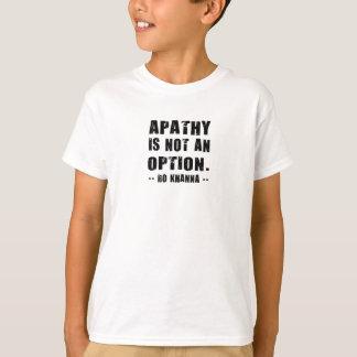 Apathy Not Option Ro Khanna Black Letters T-Shirt