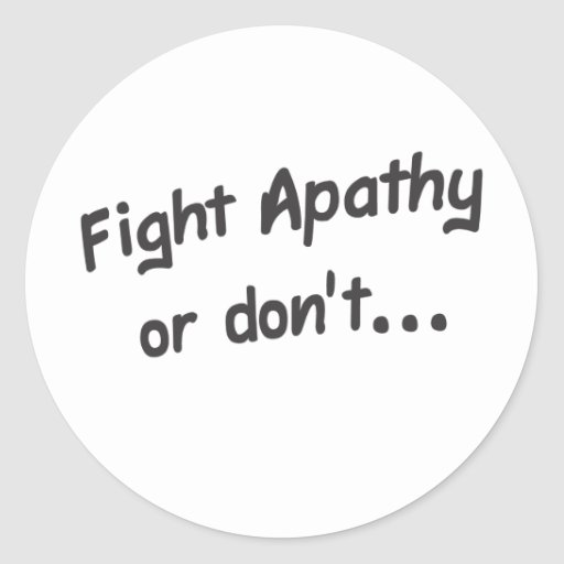 Apathy Round Stickers