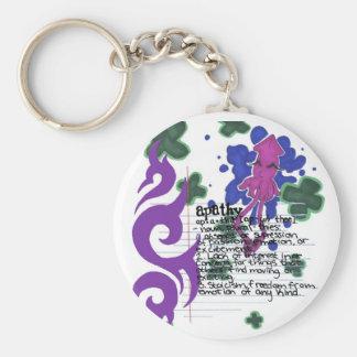Apathy Squid Basic Round Button Keychain