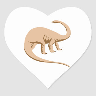 Apatosaurus (a.k.a. Brontosaurus) Heart Sticker