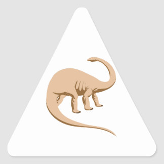 Apatosaurus (a.k.a. Brontosaurus) Triangle Sticker