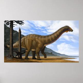 Apatosaurus and Ornitholestes Poster