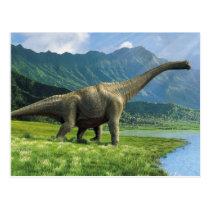 Apatosaurus At Lake Postcard Brontosaurus