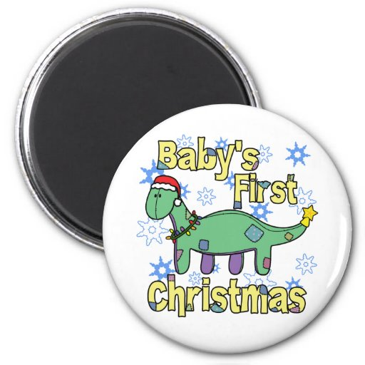 Apatosaurus Baby's First Christmas Refrigerator Magnets
