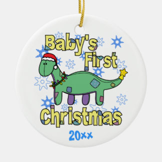 Apatosaurus Baby's First Christmas Ornament
