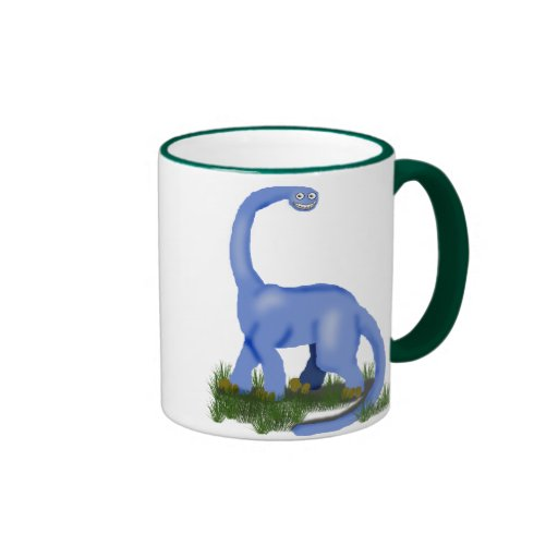 apatosaurus blue baby coffee mug