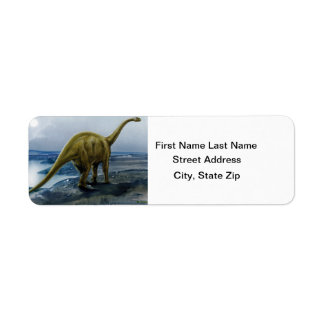 Apatosaurus (Brontosaurus) Illustration Label