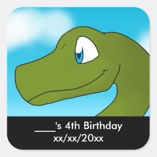 Apatosaurus/Brontosaurus Party Favor Square Sticker