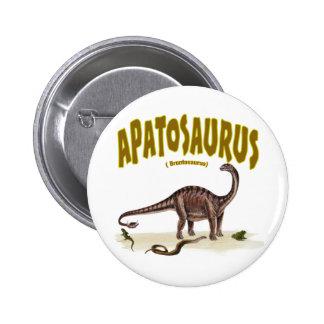 Apatosaurus (brontosaurus) pin redondo de 2 pulgadas