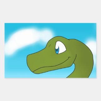 Apatosaurus/Brontosaurus Rectangular Sticker