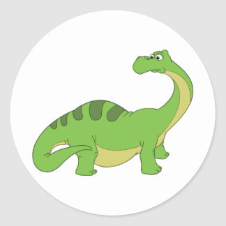 Apatosaurus Classic Round Sticker