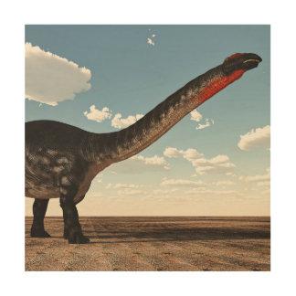 Apatosaurus dinosaur - 3D render Wood Wall Art