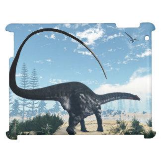 Apatosaurus dinosaur in the desert - 3D render iPad Covers