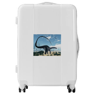 Apatosaurus dinosaur in the desert - 3D render Luggage
