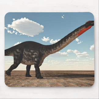 Apatosaurus dinosaur in the desert - 3D render Mouse Pad