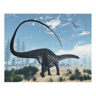 Apatosaurus dinosaur in the desert - 3D render Panel Wall Art