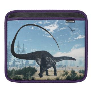 Apatosaurus dinosaur in the desert - 3D render Sleeve For iPads