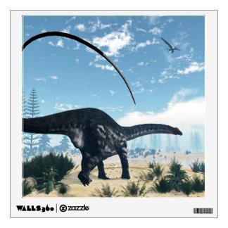 Apatosaurus dinosaur in the desert - 3D render Wall Decal