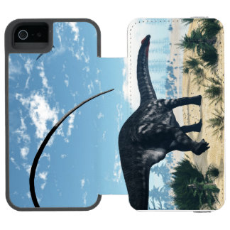 Apatosaurus dinosaur in the desert - 3D render Wallet Case For iPhone SE/5/5s