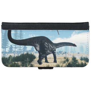 Apatosaurus dinosaur in the desert - 3D render Wallet Phone Case For iPhone 6/6s