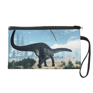 Apatosaurus dinosaur in the desert - 3D render Wristlet Purse