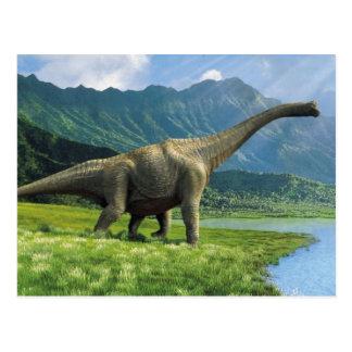 Apatosaurus en el Brontosaurus de la postal del
