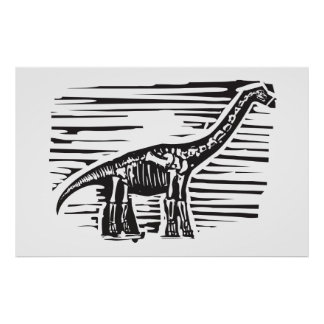 Apatosaurus Fossil Poster