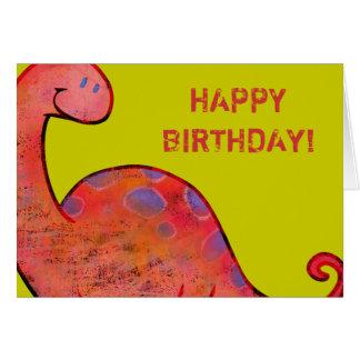 Apatosaurus Greeting Card (customizable)