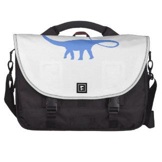 Apatosaurus Silhouette (Blue) Laptop Messenger Bag