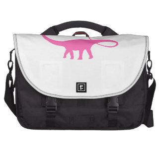 Apatosaurus Silhouette (Pink) Bag For Laptop