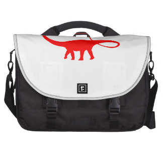 Apatosaurus Silhouette (Red) Commuter Bags