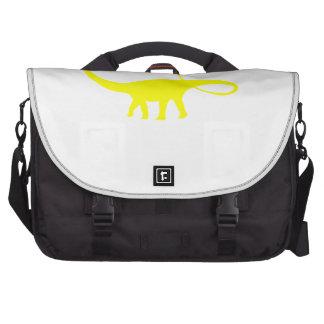 Apatosaurus Silhouette (Yellow) Laptop Bags