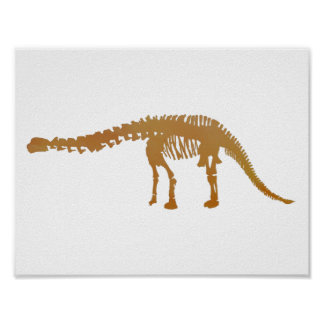 apatosaurus skeleton poster