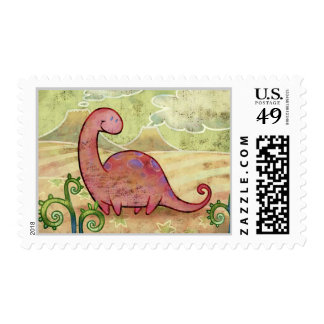 Apatosaurus Stamp